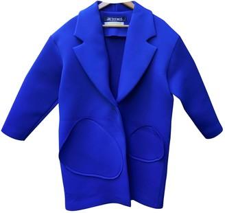 Jacquemus La Femme Enfant Blue Coat for Women