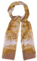 Versace Silk Ikat Scarf