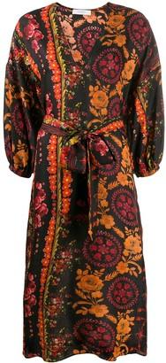 Roseanna floral wrap dress