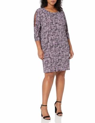 Jones New York Women's Plus Size 3/4 SLV Print Cold Should Dolman Shift