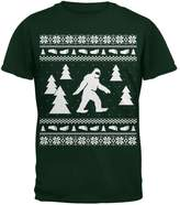 Old Glory Sasquatch Ugly Christmas Sweater Green Adult T-Shirt