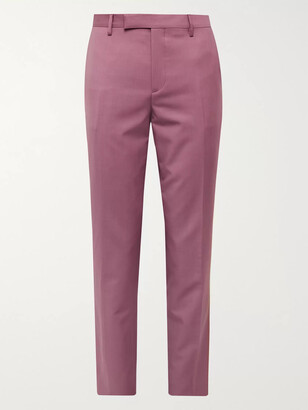 Paul Smith Soho Slim-Fit Wool and Mohair-Blend Suit Trousers - Men - Pink