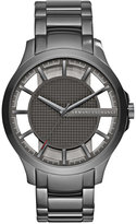 Armani Exchange A|X Men's Gunmetal Stainless Steel Bracelet Watch 46mm AX2188