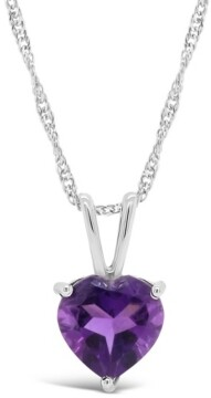 Macy's Blue Topaz (2-1/3 ct. t.w.) Pendant Necklace in Sterling Silver. Also Available in Amethyst (1-5/8 ct. t.w.)