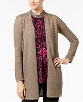 Alfani Metallic Open-Front Cardigan, Created for Macy's