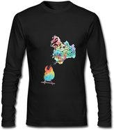 DIYgarment Men's Long Sleeve Custom T shirt with Music Note Design