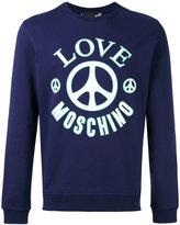 Love Moschino logo print sweatshirt - men - Cotton - S