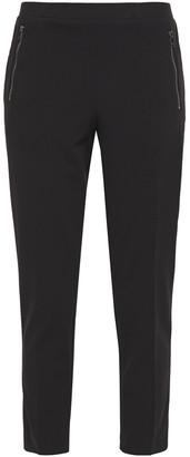 DKNY Cropped Stretch-crepe Slim-leg Pants