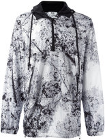MSGM marble-effect hooded windbreaker