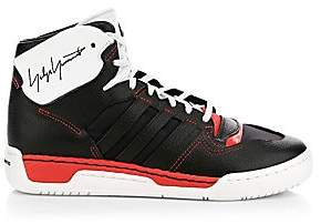 Y-3 Men's Hayworth Leather High-Top Sneakers