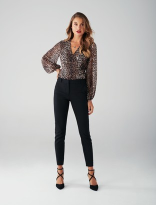 Ever New Leona Leopard Wrap Blouse