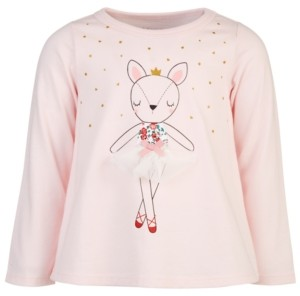 First Impressions Baby Girls Holiday Dancing Deer Cotton T-Shirt, Created for Macy's