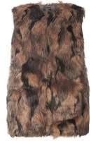 Dorothy Perkins Womens DP Curve Plus Size Marble Faux Fur Gilet