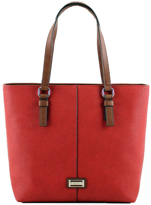 Cellini CSQ200 Audrey Double Handle Red Tote Bag