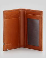 Salvatore Ferragamo Angolino Leather Card Case, Tan