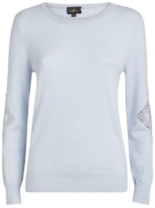 William Sharp Cashmere Embellished-Sleeve Sweater