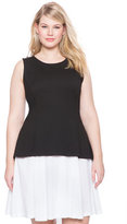ELOQUII Plus Size Layered Colorblock Dress