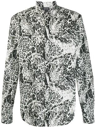 Just Cavalli Buttoned Leopard Print Shirt