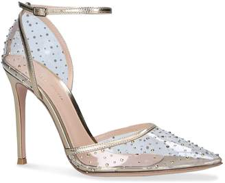 Gianvito Rossi Embellished Elly Dorsay Pumps 105