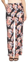 CeCe Women's Floral Print Wide Leg Pants