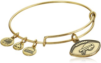 Alex and Ani Buffalo Bills Football Expandable Rafaelian Gold Bangle Bracelet