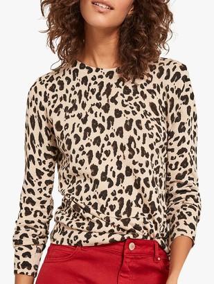 Mint Velvet Leopard Print Jumper, Multi