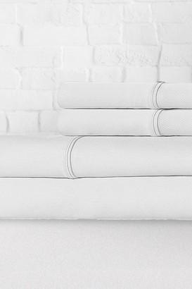 Ella Jayne Percale 300 Thread Count 4-Piece Sheet Set - White - Full