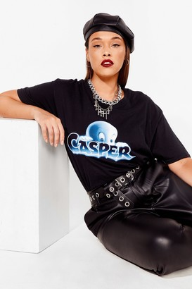 Nasty Gal Womens You've Been Ghosted Casper Plus Graphic Tee - Black - 22, Black