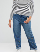 Alice & You Eyelet Boyfriend Jeans