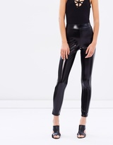 Miss Selfridge Wet-Look Leggings