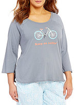 Sleep Sense Plus Keep on Rollin' Bike Raglan Jersey Sleep Top
