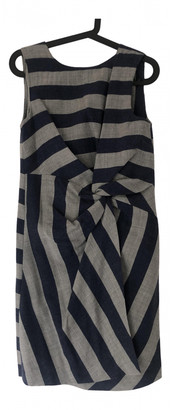 MSGM Grey Wool Dresses