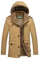 AooToo Mens Warm Detachable Hooded Winter Coat(, L)