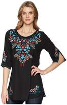 Scully Bara Embroidered Blouse Women's Clothing