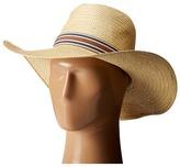 Vince Camuto Stripe Grosgrain Wide Brim Floppy Hat