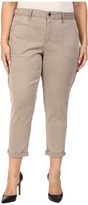 NYDJ Plus Size Plus Size Reese Relaxed Jeans in Colored Chino in Silver Elm