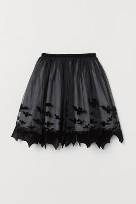 H&M Patterned Tulle Skirt - Black