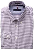 Tommy Hilfiger Men's Non Iron Slim Fit Check Buttondown Collar Dress Shirt