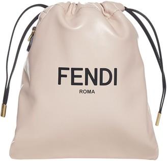 Fendi Logo Print Small Pouch Bag