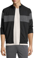Zegna Sport Techmerino Stripe Zip Sweatshirt