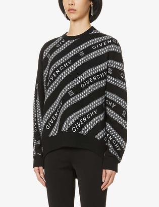 Givenchy Logo-pattern wool jumper