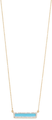 Adina 14k Turquoise + Diamond Bar Necklace