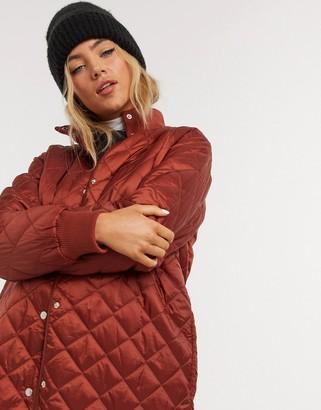 InWear HimaI padded liner coat in rust