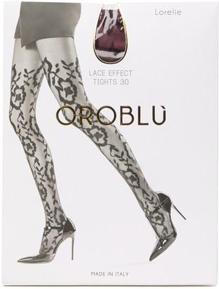 Oroblu Lorelie Floral Tights