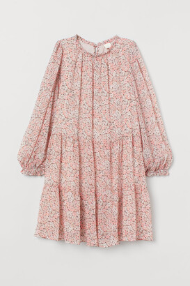 H&M Wide-cut Dress - Purple