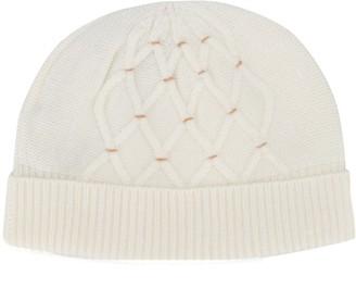N.Peal Lattice pattern cashmere beanie
