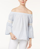 Joe's Jeans Marlee Cotton Off-The-Shoulder Peasant Top