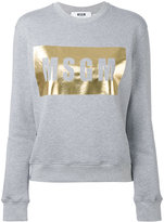 MSGM logo print sweatshirt - women - Cotton/Viscose - XS