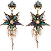 Erickson Beamon Crystal & Pearl Floral Earrings