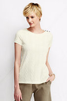 Classic Women's Cable Jacquard Top-Chilled Blue Stripe